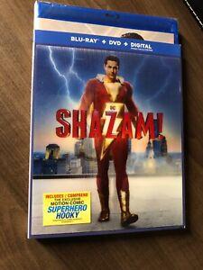 Shazam-2019-Blu-Ray-amp-DVD-w-Slipcover-Canada-Bilingual-NO-DC-LOOK-Hologram-Art