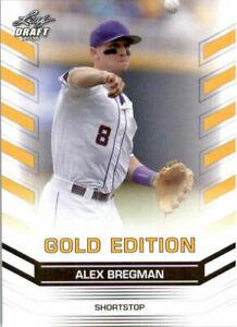 Zoll-Selten-034-Alex-Bregman-2015-Blatt-Draft-034-Gold-Ausgabe-034-Rookie-Card