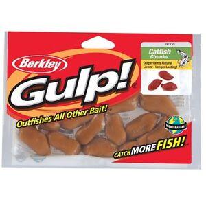 Details About Berkley Gulp Catfish Chunks 12 Pack Catfish Artificial Scented Fishing Bait