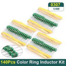 140pcs 14w 0307 Color Ring Inductor Dip Assorted Kit 14values X 10pcs140pcs