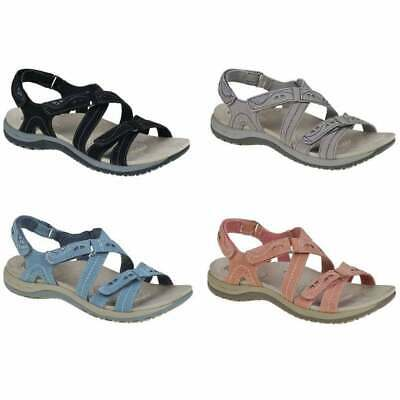 Earth Spirit Long Beach Leather Ladies Slingback Ankle Strap Sandals