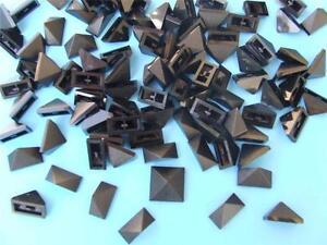 50-New-Lego-Black-Sloping-Bricks-End-Ridged-Tile-1-2-45-deg-15571-Lot-Parts