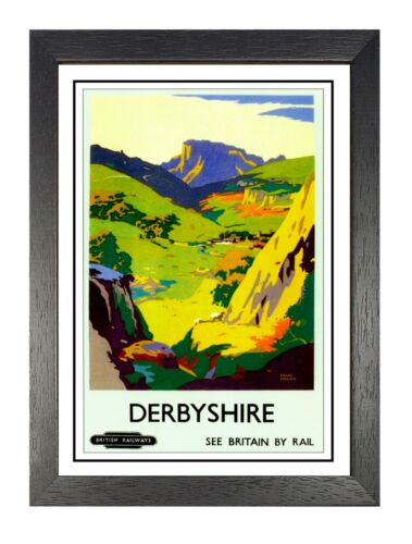 Old Railway Advert Vintage Travel Photo East Midlands Poster Derbyshire B