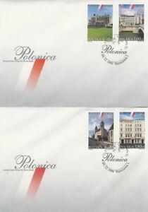 Poland FDC (Mi. 3801-04) Foreign cities #2 - Bystra Slaska, Polska - Poland FDC (Mi. 3801-04) Foreign cities #2 - Bystra Slaska, Polska