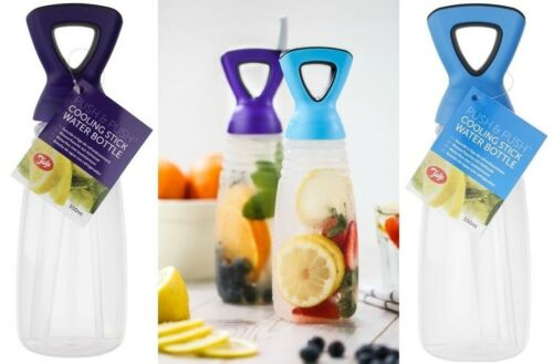 Stick Rod Cooling Drinking Water Bottle With Straw For Cold Ice Cool Drink Sport