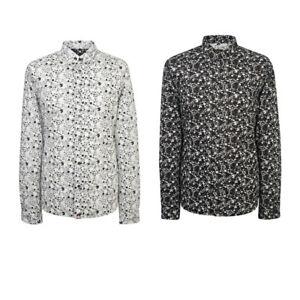 Pretty-Green-Men-039-s-Ivylea-Long-Sleeve-Floral-Cotton-Shirt-Sizes-S-L