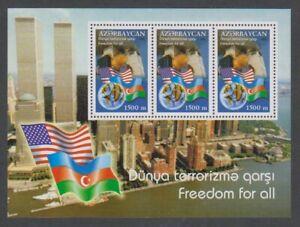 Azerbaijan - 2002, Attack of the World Trade Centre sheet - MNH - SG MS538