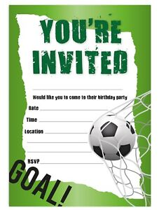 image is loading football boys birthday party invitations invites children kids