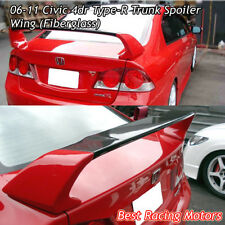 TR Style Trunk Spoiler Wing (FRP) Fits 06-11 Honda Civic 4dr