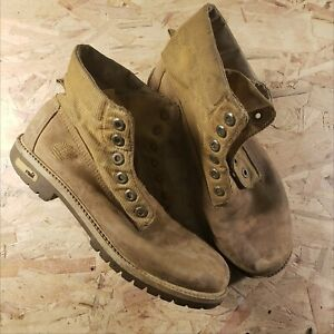 Details about Timberland Boots Expedition 1973 29967 Boys 6.5M Light Brown Leather Hiking Vtg