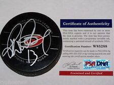 RAY WHITNEY (Carolina Hurricanes) signed Official Game Puck w/ PSA COA