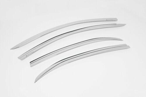 4 Piezas Auto Clover Cromo viento desviadores Conjunto Para Mazda 2 2014+