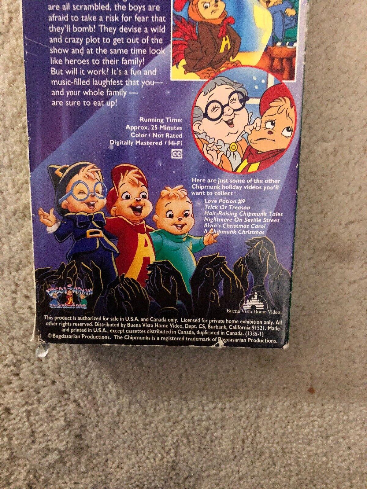 Alvin and the Chipmunks - A Chipmunk Celebration (VHS, 1995)   eBay