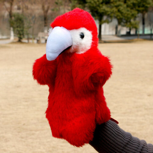 28cm Parrot Animal Hand Puppet Toys story cosplay teaching puppets