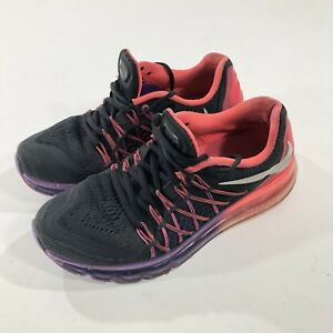 Details about Nike Air Max 2015 Women's Running Training Shoes Black Hyper Punch Grape SZ 8.5