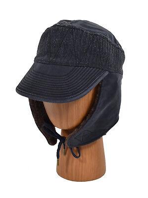 Buy Ralph Lauren RRL Navy Canvas Faux Fur Hunting Trapper Hat Cap S ... bf11c9ac26a
