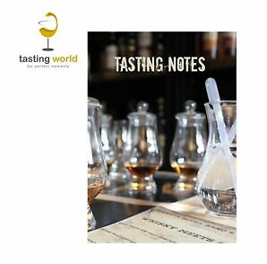 A5 TASTING NOTES - Notebook Notizbuch für Verkostungsnotizen für Whisky, Rum ua