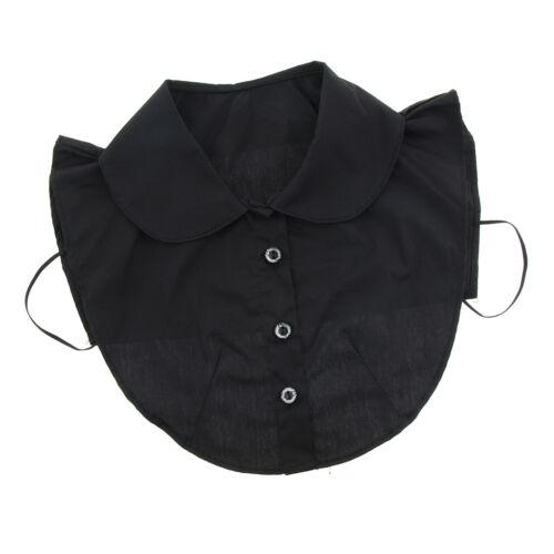Damen Abnehmbare Kragen Baumwolle Hälfte Shirt Bluse Blusenkrage
