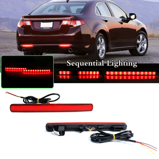 Red Lens 48-SMD LED Sequential Turn Signal Brake Lights
