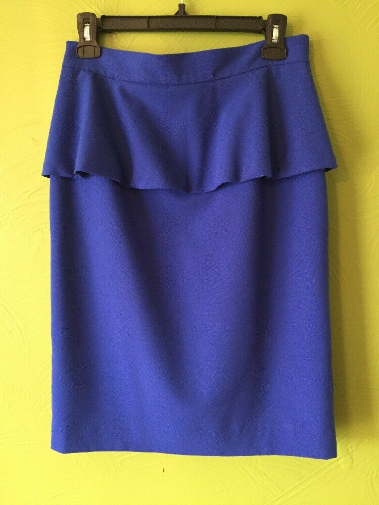 Vince Camuto Cobalt bluee Peplum Pencil Skirt Size 4 Fully Lined Small