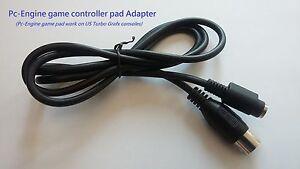 Diplomatique Pc-moteur Pour Nous Console Turbo Grafx Manette Câble Adaptateur-neuf-afficher Le Titre D'origine Dissipation Rapide De La Chaleur
