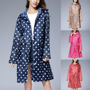 Fashion-Women-039-s-Wave-Rain-Jacket-Outdoor-Waterproof-Windproof-Coat-Outwear