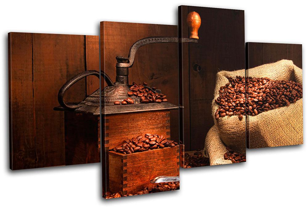 Coffee Coffee Coffee Grinder Beans Food Kitchen MULTI TELA parete arte foto stampa 98707e