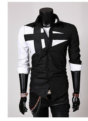 Morden Design Style Mens  Slim Fit Dress Man Shirts Tops Western SplendidLovely