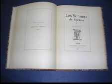 """Rare Les """"sonnets du docteur"""" 1893 1/500 exemplaires illustré par Félicien Rops"""