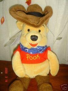 the-disney-store-cowboy-pooh-bean-bag-plush-retired