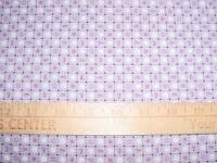 Breast Cancer Pink Ribbons Squares Lavender Cotton Quilt Fabric Bty Qt