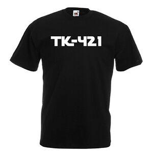 TK-421-Nero-T-Shirt-Uomo-con-Bianco-Stampa