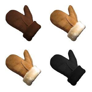 89fb63e208a0c4 Das Bild wird geladen Lammfell-Premium-Fell-Handschuhe-Faeustlinge -Fausthandschuhe-Groessen-S-