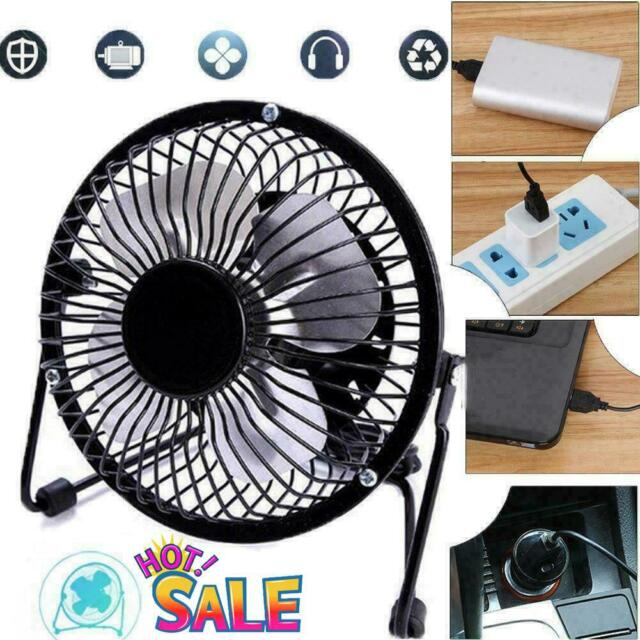 2pcs Portable Mini USB Cooling Fan Portable PC Desktop Table Silent Air Cooler