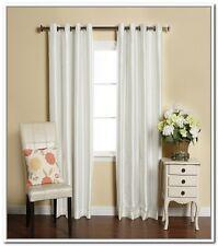 "2 Piece Solid Faux Silk Grommet Window Treatment Curtain Panel Drapes 55"" X 84"""