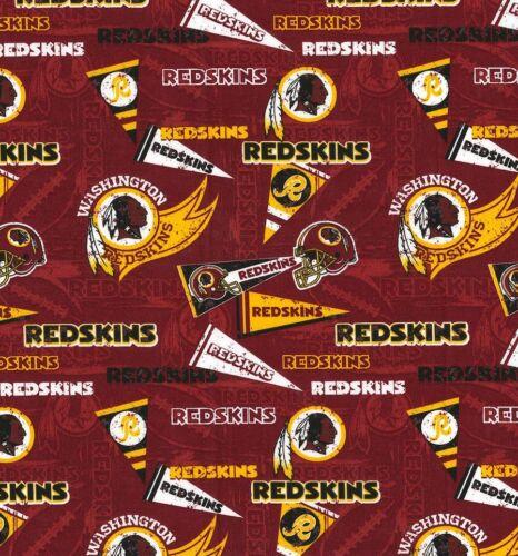 Pieles Rojas De Washington Vintage Impresión Nfl Football 100/% tela de algodón por la yarda 1//2