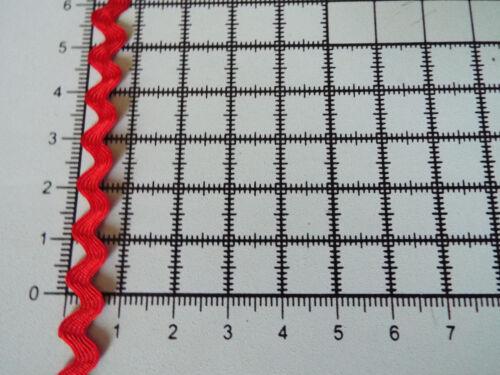 3m RIC RAC Ribbon Tape Zig Wide 8mm Trimmings Zag Braid