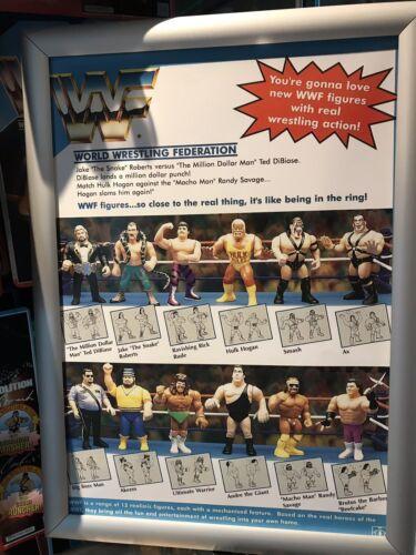 WWF Hasbro série 1 GRANDE AFFiCHE