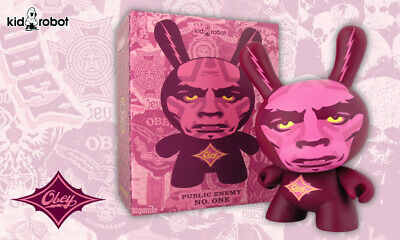 """One NEW Kidrobot Obey Dunny 8/"""" Obey Giant Shepard Fairey Public Enemy No"""