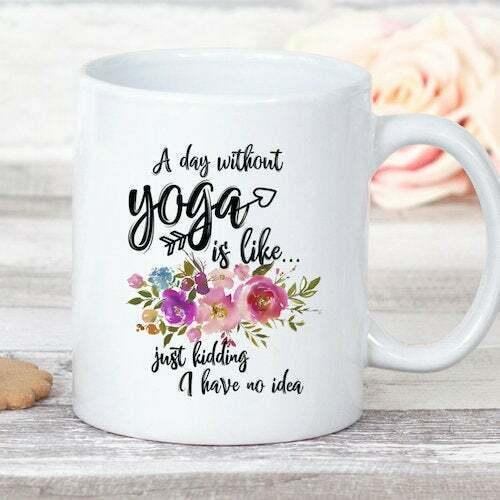 Yoga Gift For Teacher Funny Fitness Coffee Mug