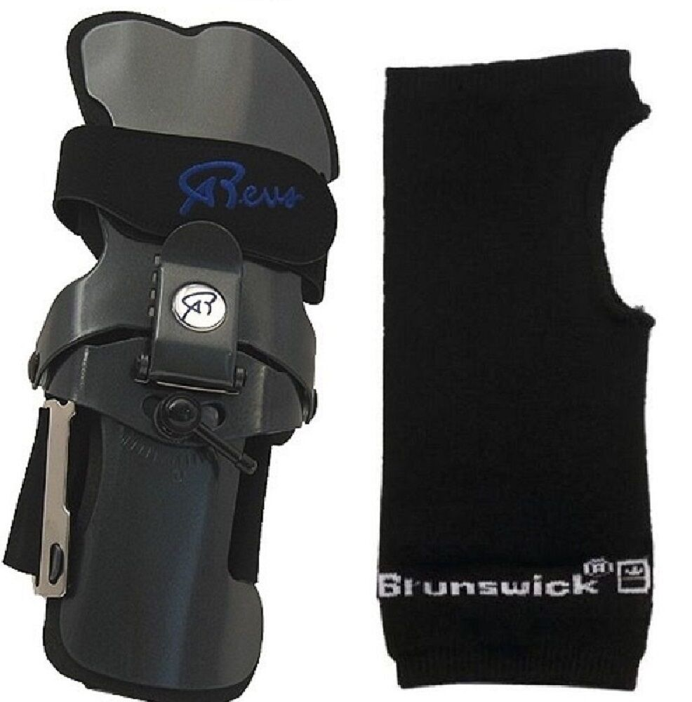 Robbys REVS Bowling Ball Wrist Brace Small-XLarge Left Handed & Wrist Liner