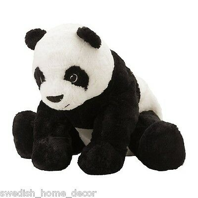 Kramig Panda Bear Ikea Stuffed animal Toy Soft White Black Plush kids Gift Baby