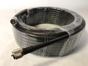 75FT-LMR400-COAX-COAXIAL-ULTRA-LOW-LOSS-CABLE-w-MALE-PL-259-CB-HAM-RADIO-USA