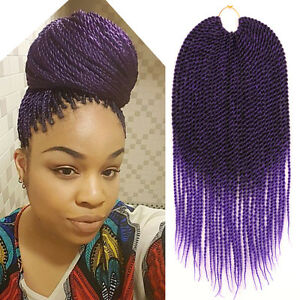 Image Is Loading Ombre Purple Crochet Twist Braid Hair Extension Two