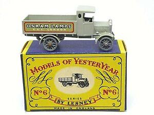 Matchbox-Lesney-Y6-1-AEC-039-y-039-tipo-camion-039-Osram-Lamparas-039-s-en-caja-tipo-039-A-039
