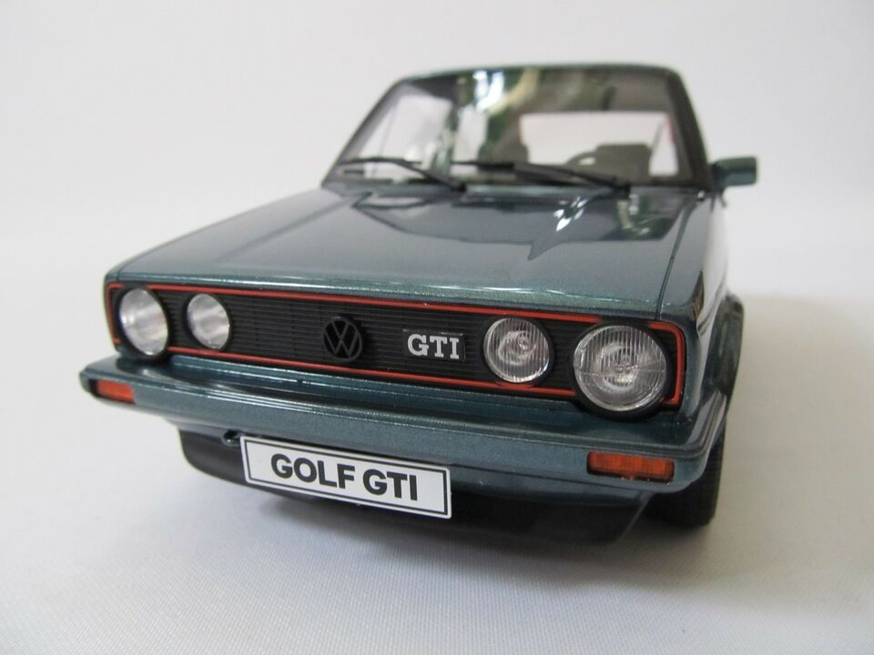 Modelbil, 1983 VW Golf 1 GTI Pirelli, skala 1:18