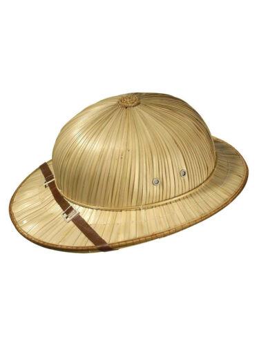"""CAPPELLO in paglia in /""""Explorer/"""" Safari Cappello Costume Carnevale Cappello"""
