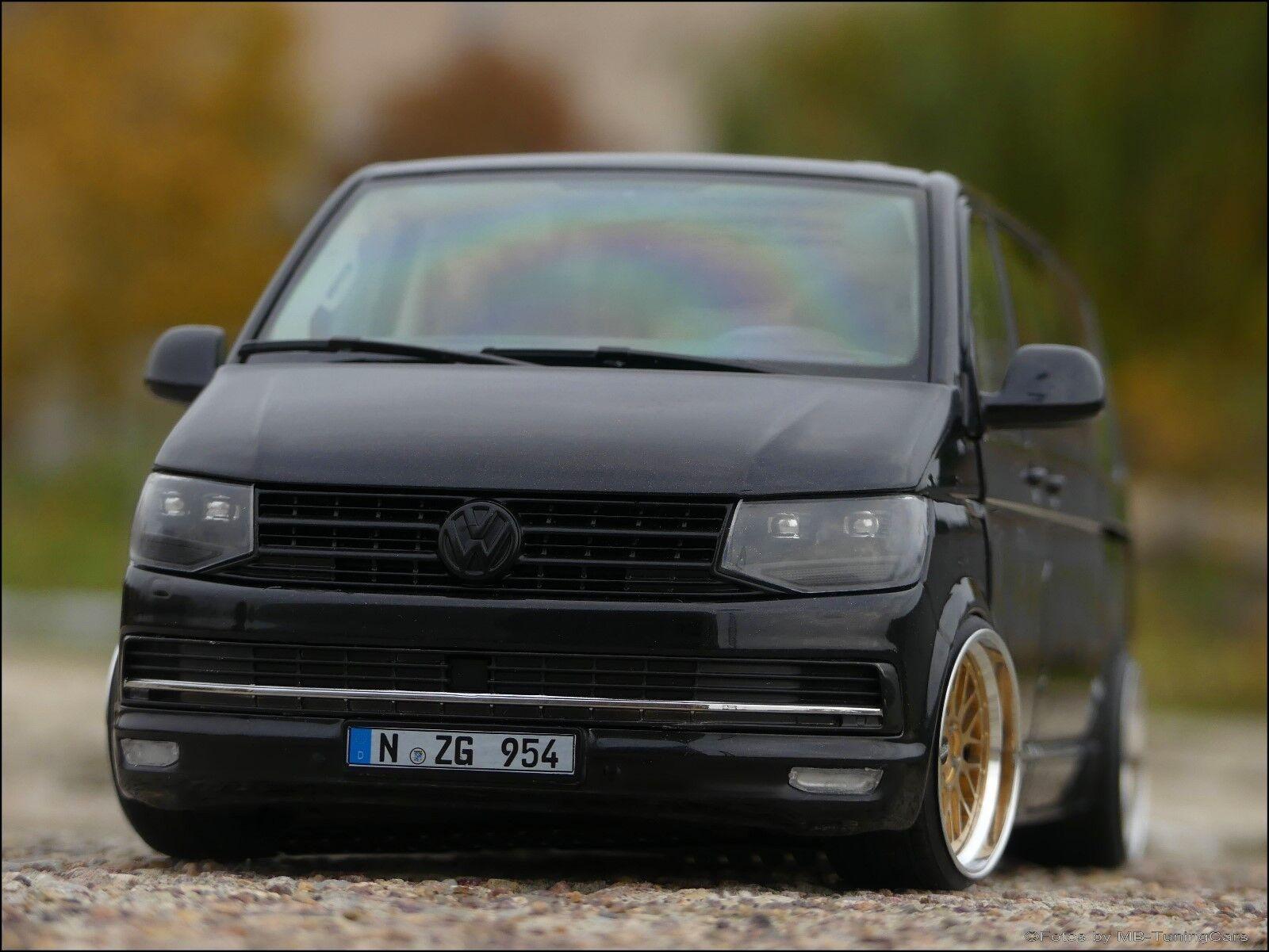 1 18 tuning VOLKSWAGEN VW t6 Multivan Highline avec or BBS LM Alu-PVC-Jantes