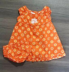 Baby-Girls-Clemson-Tigers-Orange-Dress-6-9-Mos
