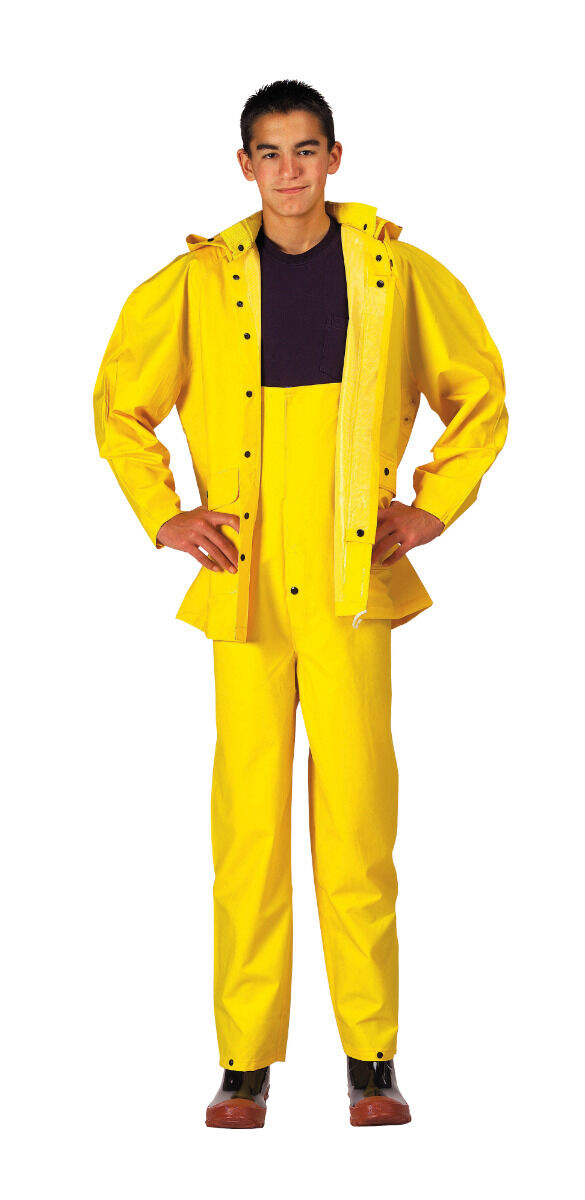 Yellow Heavyweight 2 Piece PVC Deluxe Rainsuit  3620 redcho